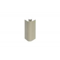 """Угол 90"""" H.100 для цоколя алюминиевого, сталь нержавеющая полированная"""