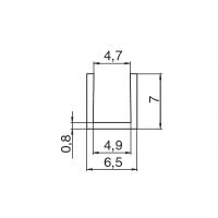 Профиль торцевой 600мм для стеновых панелей, отделка алюминий