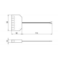 Блок распределительный L806-PC на 6 подключения, с проводом 200 мм