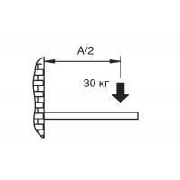MN191.TM.52 Менсолодержатель складной с фиксатором, L=280мм, отделка коричневый