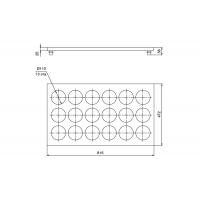 90.9VI/17/BT50 Ёмкость в базу 900, с 18 банками (1.0л), бук/стекло, для ящика Blum (L=500мм)