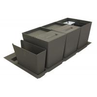 Система хранения в базу 900 (2 ведра + 2 контейнера), отделка орион серый