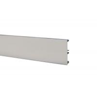 Цоколь алюминиевый H.100, L=4000, сталь нержавеющая полированная