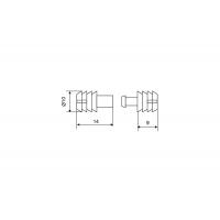 Шкант 10x23 пластиковый, отделка нейтральная (состоит из 2-х частей)