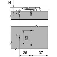 Планка Clip, подъем 18 мм
