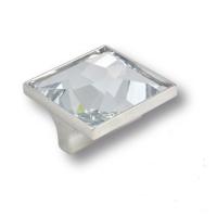15.390.32.SWA.07 Ручка кнопка с кристаллом Swarovski эксклюзивная коллекция, глянцевый хром 32 мм
