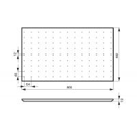 Многофункциональная панель в базу 900, МДФ/ламинат бук, для ящика Hettich (L=470мм)