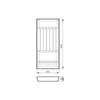 Ёмкость в базу 300, для кухонных ножей, бук, для ящика Blum (L=500мм)