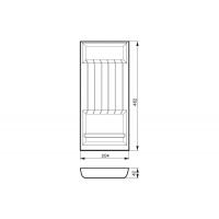 Ёмкость в базу 300, для кухонных ножей, бук, для ящика Hettich (L=470мм)