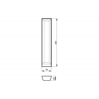 Расширитель, бук, для ящика Hettich(L=470мм)