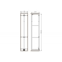 Рама для выдвижной колонны в базу 450, Н=1835/2185, отделка титаниум