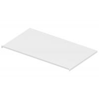 Защитный экран под варочную панель, для тумбы шириной 900мм из 16ДСП, отделка белый бархат (матовый)