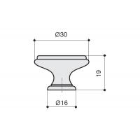 P88.Y01.G1.MB1G Ручка-кнопка, отделка бронза темная + керамика