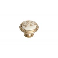 """P88.Y01.H3.MR8G Ручка-кнопка, отделка золото матовое """"Милан"""" + керамика"""