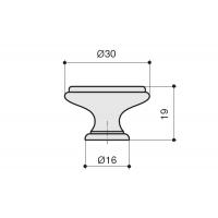 "P88.Y01.G4.MD1G Ручка-кнопка, отделка бронза античная ""Флоренция"" + керамика"