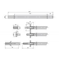 AA2.I020.AA2B2  Менсолодержатель One 20, отделка алюминий, комплект 2 штуки