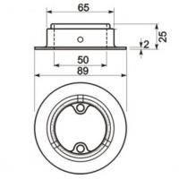 K108CA Универсальное крепление барной стойки d=50 мм, античная медь