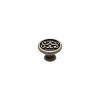 24134Z03000.25 Ручка-кнопка, отделка серебро старое