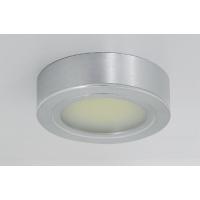 Комплект из 3-х врезных/накладных светильников LED Luna 1, 6400K, отделка алюминий