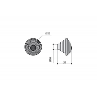 24273Z03200.F5 Ручка-кнопка, отделка белая матовая
