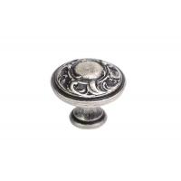 24401.03001.25 Ручка-кнопка, отделка серебро старое