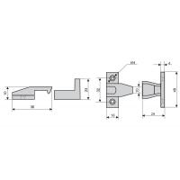 750/CNE Клип-защёлка фасада под духовку