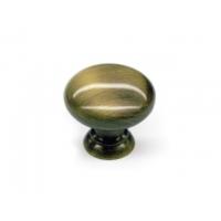 GN13-G00AB Ручка кнопка, сатиновая бронза, с крепежным комплектом