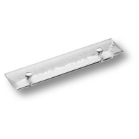 2594-005-96 DESIGN Ручка скоба модерн, пластик глянцевый хром 96 мм