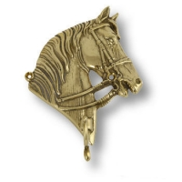 "00095/A Вешалка ""Лошадь"" SX, латунь"