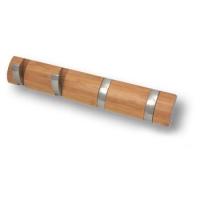934BA Вешалка из дерева бамбука со складными крючками