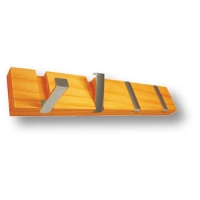 900HM Вешалка деревянная медовый бук со складными крючками