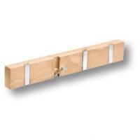 900HN Вешалка деревянная натуральный бук со складными крючками
