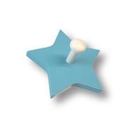 909AZ Вешалка деревянная в форме звезды, цвет голубой