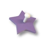 909LI Вешалка деревянная в форме звезды, цвет сиреневый