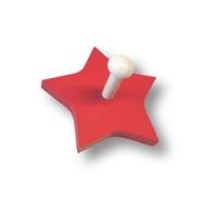 909RJ Вешалка деревянная в форме звезды, цвет красный