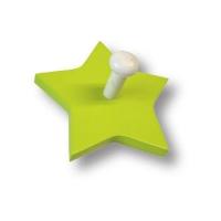 909VE Вешалка деревянная в форме звезды, цвет салатовый