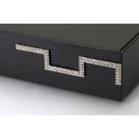 Накладка декоративная фигурная с кристаллами, правая, отделка никель + горный хрусталь
