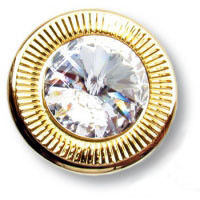 25.319.25.SWA.19 Ручка кнопка с кристаллом Swarovski эксклюзивная коллекция, глянцевое золото 24K