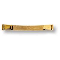 15.128.128. DIA.19 Ручка скоба эксклюзивная коллекция, глянцевое золото 24K 128 мм