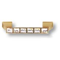 15.139.96.SWA.19 Ручка скоба с кристаллами Swarovski эксклюзивная коллекция, глянцевое золото 96 мм