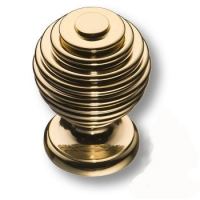 15.030.19 Ручка кнопка современная классика, глянцевое золото 24K