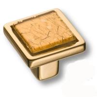 15.320.00 VS 05 19 Ручка кнопка квадратная, эксклюзивная коллекция, глянцевое золото 24K