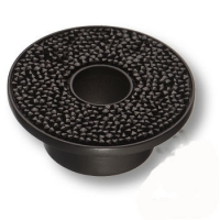 STONE32/N-SW/N Ручка кнопка c чёрными кристаллами Swarovski, цвет покрытия - чёрный 32 мм