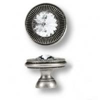 25.319.25.SWA.16 Ручка кнопка с кристаллом Swarovski эксклюзивная коллекция, античное серебро