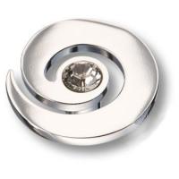 1039.0040.026 Ручка кнопка с кристаллом Swarovski эксклюзивная коллекция, глянцевый хром