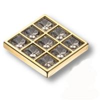 MT8138B-10 Ручка кнопка с кристаллами эксклюзивная коллекция, глянцевое золото