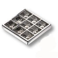 MT8138B-40 Ручка кнопка с кристаллами эксклюзивная коллекция, глянцевый хром