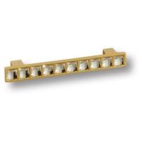 7162.0096.027 Ручка скоба с кристаллами Swarovski эксклюзивная коллекция, матовое золото 96 мм