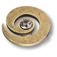1039.0040.002 Ручка кнопка с кристаллом Swarovski эксклюзивная коллекция, старая бронза