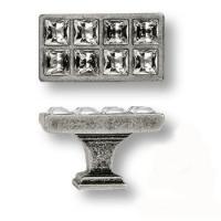 15.349.00.SWA.16 Ручка кнопка с кристаллами Swarovski эксклюзивная коллекция, античное серебро